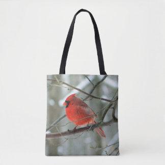 Cardinal Printed Tote Bag