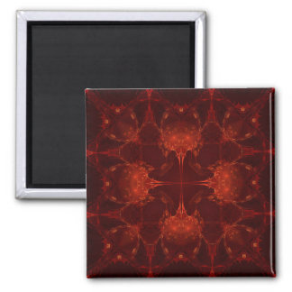 Cardinal Red  7 2 Inch Square Magnet