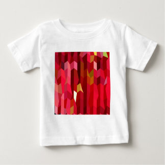 Cardinal Red Abstract Low Polygon Background Baby T-Shirt