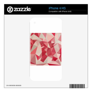 Cardinal Red Abstract Low Polygon Background Skins For The iPhone 4