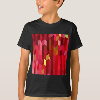Cardinal Red Abstract Low Polygon Background T-Shirt