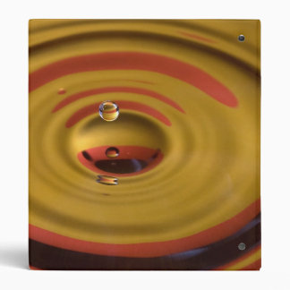 Cardinal Red and Gold Water Drop 3 Ring Binder