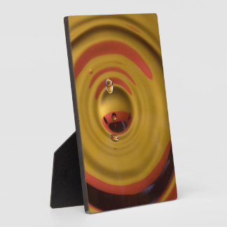 Cardinal Red and Gold Water Drop Display Plaques