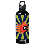Hand shaped Cardinal Red Bird Aluminum Water Bottle