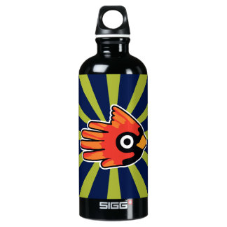 Cardinal Red Bird Aluminum Water Bottle