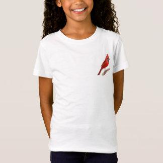 Cardinal Red Bird Girls Baby Doll Shirt