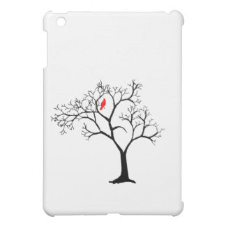 Cardinal Red Bird in Snowy Winter Tree Cover For The iPad Mini