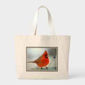 Cardinal Red Bird Large Tote Bag
