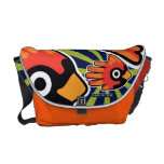 Hand shaped Cardinal Red Bird Messenger Bag