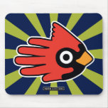 Hand shaped Cardinal Red Bird Mouse Pad