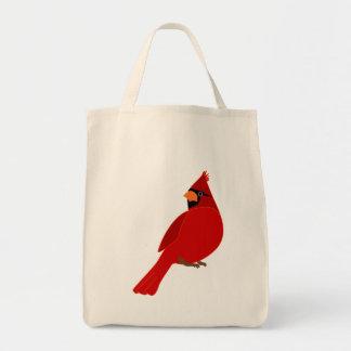 Cardinal red bird tote