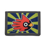 Hand shaped Cardinal Red Bird Trifold Wallet