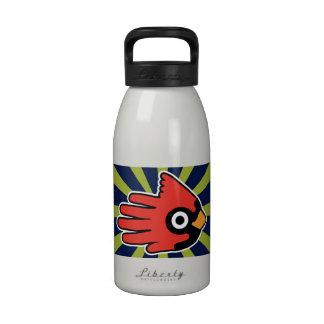 Cardinal Red Bird Water Bottle