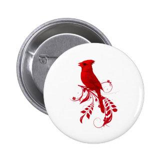 cardinal red pinback button
