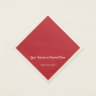 cardinal red solid color napkin