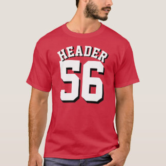 Cardinal Red & White Adults | Sports Jersey Design T-Shirt