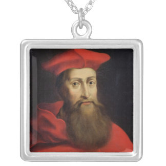 Cardinal Reginald Pole  Archbishop of Canterbury Silver Plated Necklace