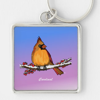 Cardinal rev.2.0 Buttons and Flair Key Chain
