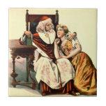 Cardinal Richelieu and Julie 1894 Ceramic Tile