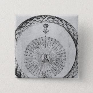 Cardinal Richelieu  as the centre of the sun Pinback Button