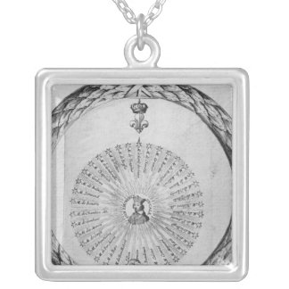 Cardinal Richelieu  as the centre of the sun Silver Plated Necklace
