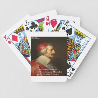 Cardinal Richelieu Success Wisdom Quote Bicycle Playing Cards