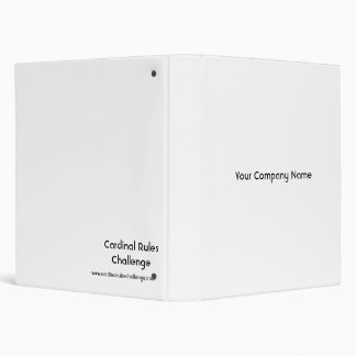 Cardinal Rules Challenge Official Binder