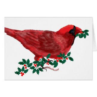 Cardinal Season's Greetings Card
