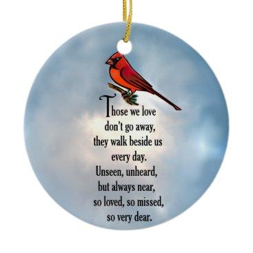 "AlwaysInMyHeart Cardinal ""So Loved"" Poem Ceramic Ornament"