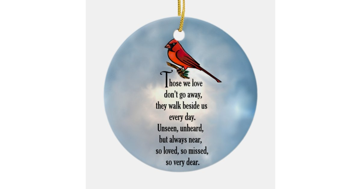 cardinal so loved poem ceramic ornament zazzlecom