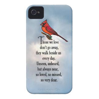 "Cardinal ""So Loved"" Poem iPhone 4 Case"