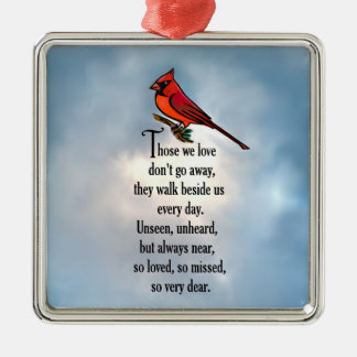 "Cardinal ""So Loved"" Poem Metal Ornament"
