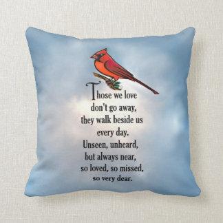 "Cardinal ""So Loved"" Poem Throw Pillow"