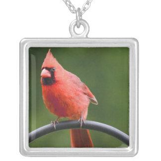 Cardinal Square Pendant Necklace