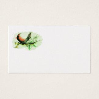 Cardinal, Sumi-e Business Card