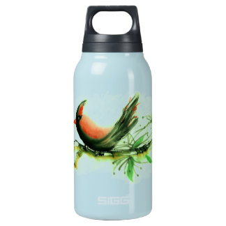 Cardinal - Sumi-e ink painting Insulated Water Bottle