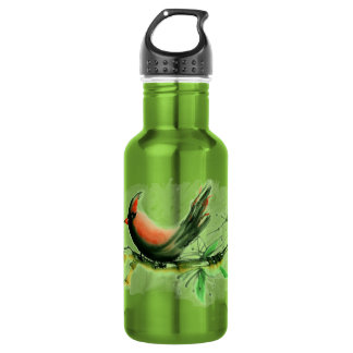 Cardinal - Sumi-e ink painting Water Bottle