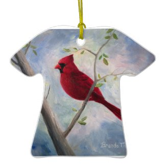cardinal T-shirt Ornament ornament