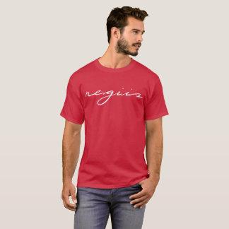 Cardinal t-shirt with white Regiis design in cursi