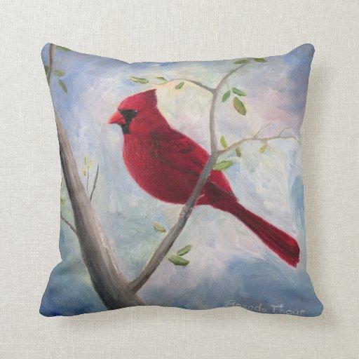 Cardinal Bird Throw Pillows : Cardinal Throw Pillow Zazzle