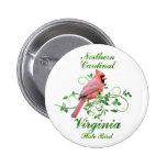 Cardinal Virginia State Bird Button