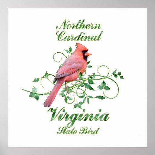 Cardinal Virginia State Bird Print