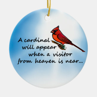 Cardinal, Visitor from Heaven Ceramic Ornament