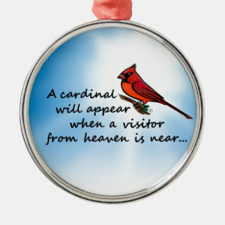 Cardinal, Visitor from Heaven Metal Ornament