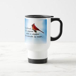 Cardinal, Visitor from Heaven Travel Mug