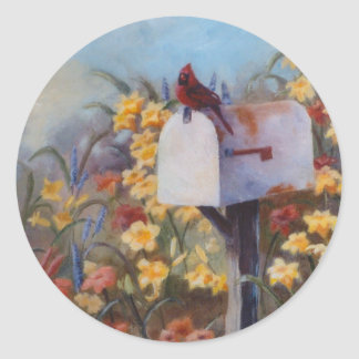 Cardinal Waiting For the Mail Stickers