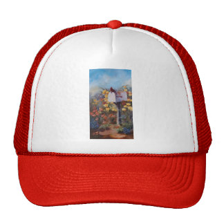 Cardinal Waiting For the Mail Trucker Hat