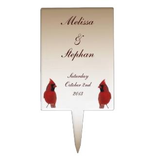 Cardinal Wedding Cake Topper