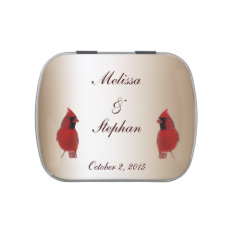 Cardinal Wedding Favor Jelly Belly Tin at Zazzle