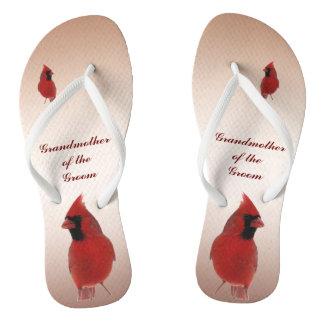 Cardinal Wedding Grandmother of Groom Flip Flops